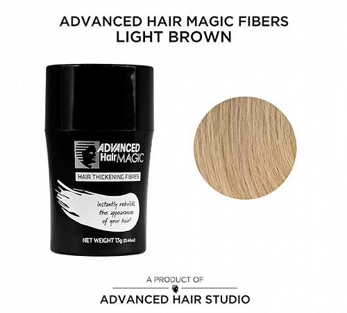 Hair thickening fibers by Advanced Hair Studio blonde