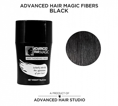 Hair thickening fibers by Advanced Hair Studio black