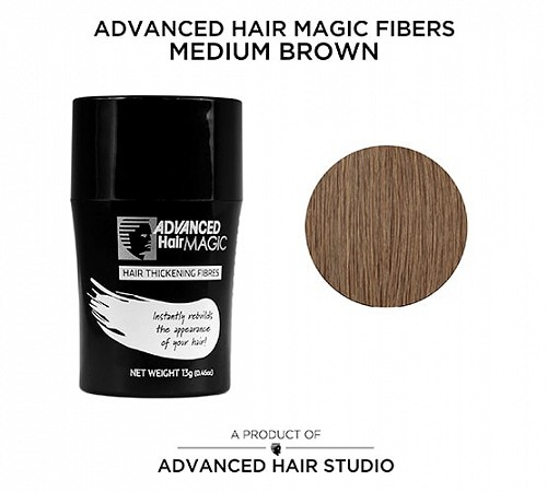 Hair thickening fibers by Advanced Hair Studio brown
