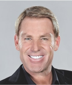 Shane Warne after hair replacement treatment