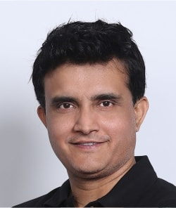 Sourav Ganguly after hair restoration
